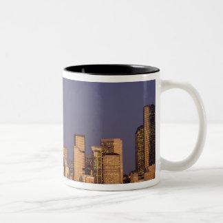 WA, Seattle, Seattle skyline and Elliott Bay, Mugs