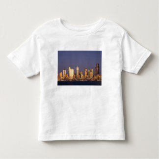 WA, Seattle, Seattle skyline and Elliott Bay, Toddler T-shirt