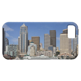 WA, Seattle, Seattle skyline with ferry boat iPhone SE/5/5s Case