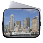 WA, Seattle, Seattle skyline with ferry boat Laptop Computer Sleeves