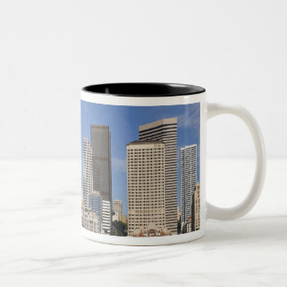 WA, Seattle, Seattle skyline with ferry boat Coffee Mugs
