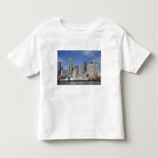 WA, Seattle, Seattle skyline with ferry boat Toddler T-shirt