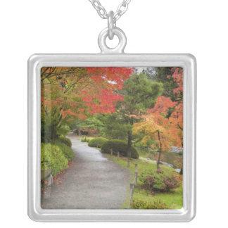 WA, Seattle, Washington Park Arboretum, 2 Silver Plated Necklace
