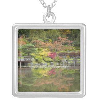 WA, Seattle, Washington Park Arboretum, 3 Silver Plated Necklace