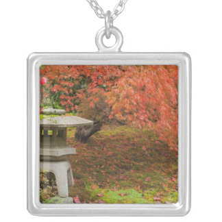 WA, Seattle, Washington Park Arboretum, Japanese 2 Silver Plated Necklace