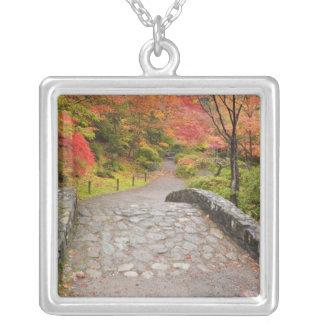 WA, Seattle, Washington Park Arboretum, Silver Plated Necklace