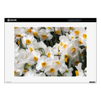 "WA, Skagit Valley, Daffodil pattern 15"" Laptop Decals"