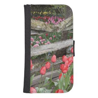 WA, Skagit Valley, Roozengaarde Tulip Garden, Wallet Phone Case For Samsung Galaxy S4