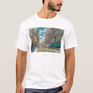 WA Street Downtown Shopping District Scene T-Shirt