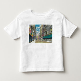 WA Street Downtown Shopping District Scene Toddler T-shirt