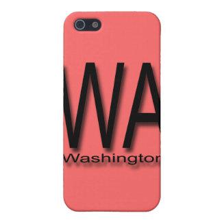 WA Washington black Cover For iPhone SE/5/5s