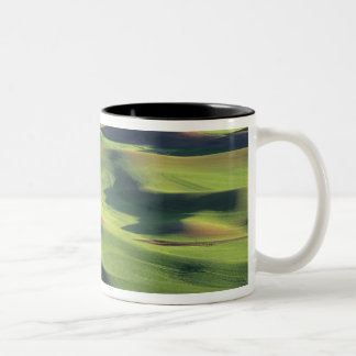 WA, Whitman County, Palouse Farmland, view Two-Tone Coffee Mug