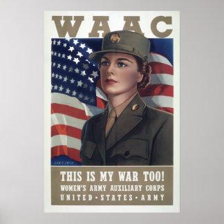 WAAC's at WAR 1941 Poster