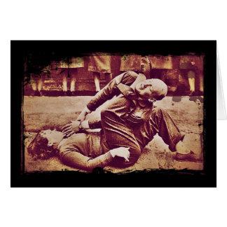 WAAF Demonstrates Self-Defense WWII Card