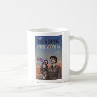 WAAF in Uniform with Pilot Beside Her Coffee Mug
