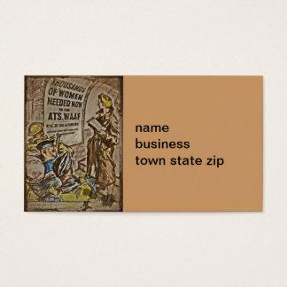 WAAF Recruitment Business Card