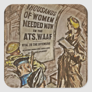 WAAF Recruitment Image Square Sticker