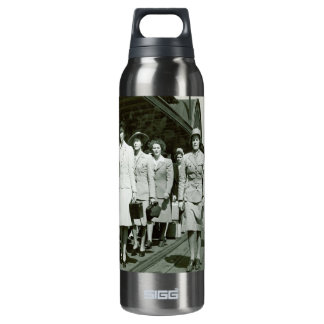 WAAF Recruits Marching 1942 Insulated Water Bottle
