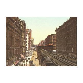 Wabash Avenue Chicago 1900 Canvas Print