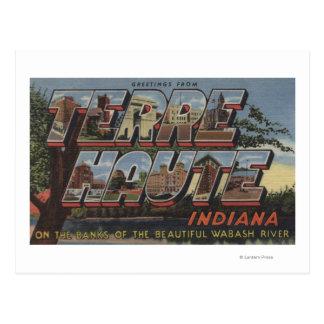 Wabash River - Large Letter Scenes Postcard