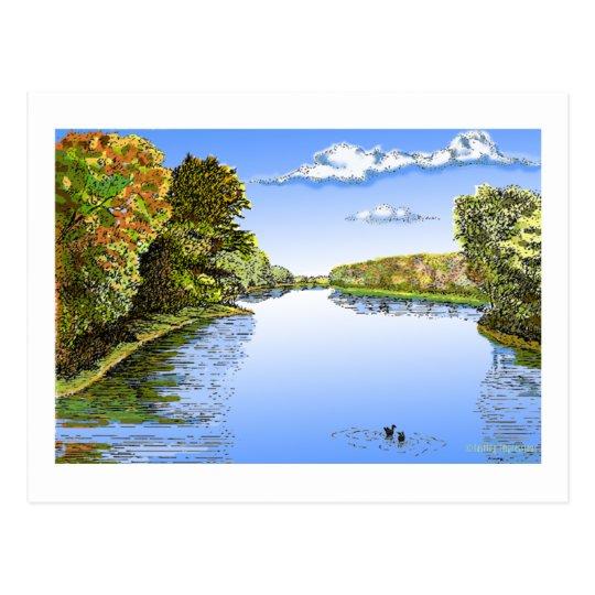 Wabash River Postcard