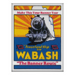 Wabash The Banner Route Railway Poster