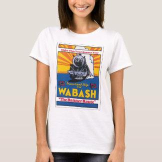 Wabash Vintage Travel Poster Artwork T-Shirt