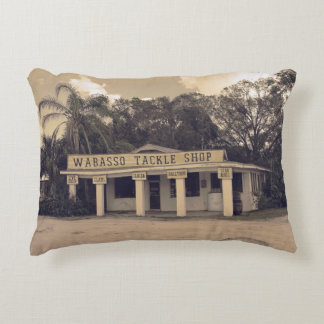 Wabasso Tackle Shop Decorative Pillow