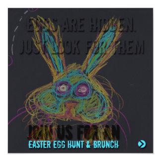 Wabbit el conejo - invitación feliz de Pascua