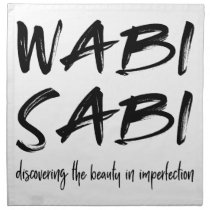 Wabi sabi cloth napkin