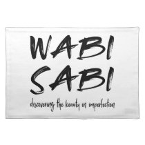 Wabi sabi cloth placemat