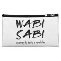Wabi sabi cosmetic bag