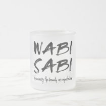 Wabi sabi frosted glass coffee mug