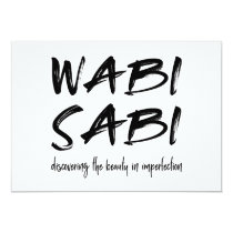 Wabi sabi invitation