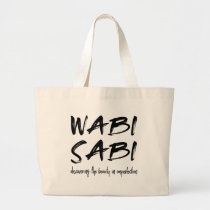 Wabi sabi large tote bag