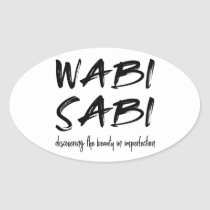 Wabi sabi oval sticker
