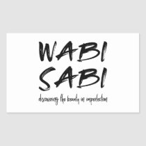 Wabi sabi rectangular sticker