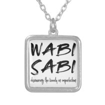 Wabi sabi silver plated necklace