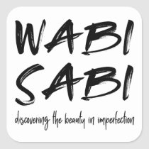 Wabi sabi square sticker