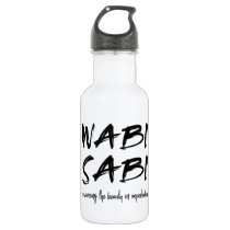 Wabi sabi stainless steel water bottle