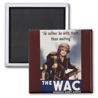 WAC Recruiting Poster 2 Inch Square Magnet