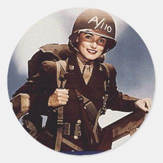 WAC Recruiting Poster Classic Round Sticker