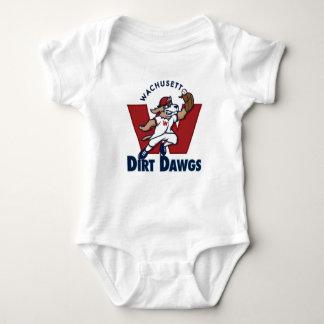 Wachusett Dirt Dawgs Collegiate Baseball Team Logo Baby Bodysuit