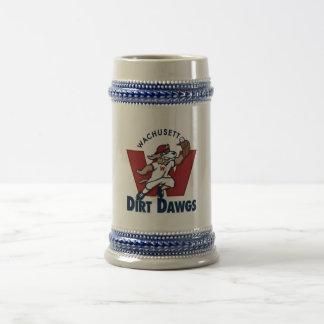 Wachusett Dirt Dawgs Collegiate Baseball Team Logo Beer Stein