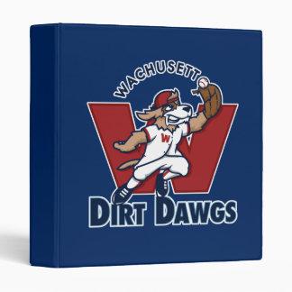 Wachusett Dirt Dawgs Collegiate Baseball Team Logo Binder