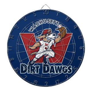 Wachusett Dirt Dawgs Collegiate Baseball Team Logo Dart Board