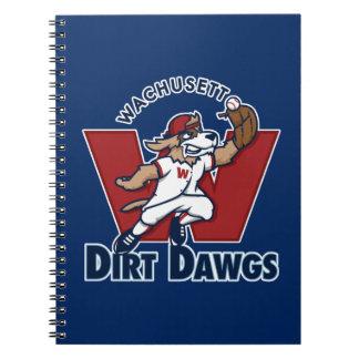 Wachusett Dirt Dawgs Collegiate Baseball Team Logo Spiral Notebook