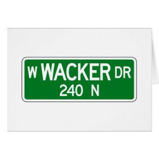 Wacker Drive, Chicago, IL Street Sign Card