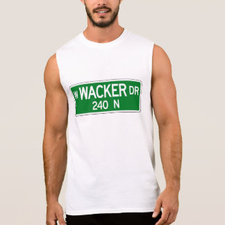 Wacker Drive, Chicago, IL Street Sign Sleeveless Shirt