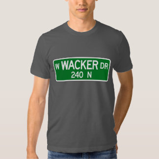 Wacker Drive, Chicago, IL Street Sign T-shirt